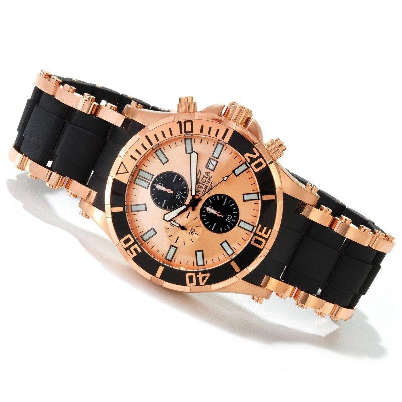 Special Edition Rose Gold and Black Invicta Watch