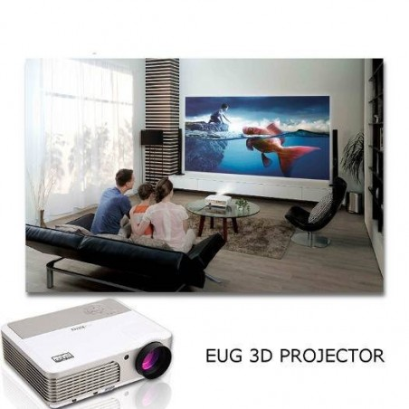 EUG 3D Projector with 100 Inch Screen