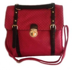 Maroon Fashion Book Handbag