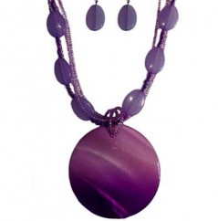 Fye Violet Necklace with Earrings