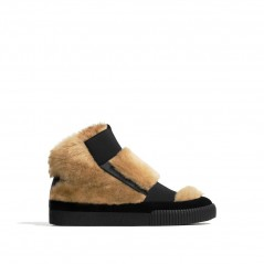 SPECIAL EDITION FAUX FUR HIGH TOP SNEAKERS