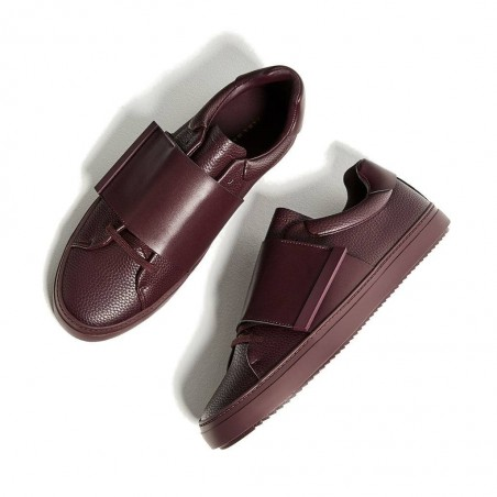 BURGUNDY SNEAKERS WITH XL STRAP