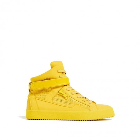 HIGH TOP SNEAKERS WITH ZIP-Yellow
