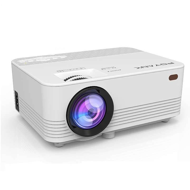 POYANK 2000Lumen Portable Video Projector - FULL HD LED Mini Projector for Home Theater Entertainment