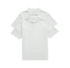 White UV Golf Shirts 2 Pack